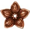 Bead Cap Jasmine Star Antique Copper
